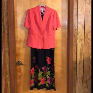 BFA Sz 6P Women's Sleeveless Dress with SS Jacket.